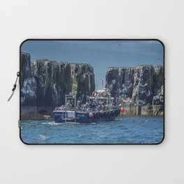 Passengers on board a boat at the farne Islands, Northumberland Laptop Sleeve