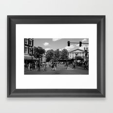 Harvard Square Framed Art Print
