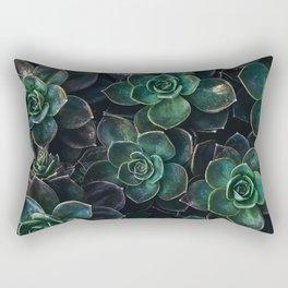 The Succulent Green Rectangular Pillow