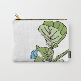 Lined Fig Tree and Blue Butterfly Carry-All Pouch