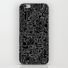 Sketched Numbers iPhone Skin