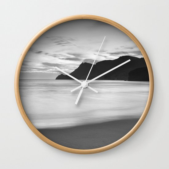 Silver sea. BN Wall Clock
