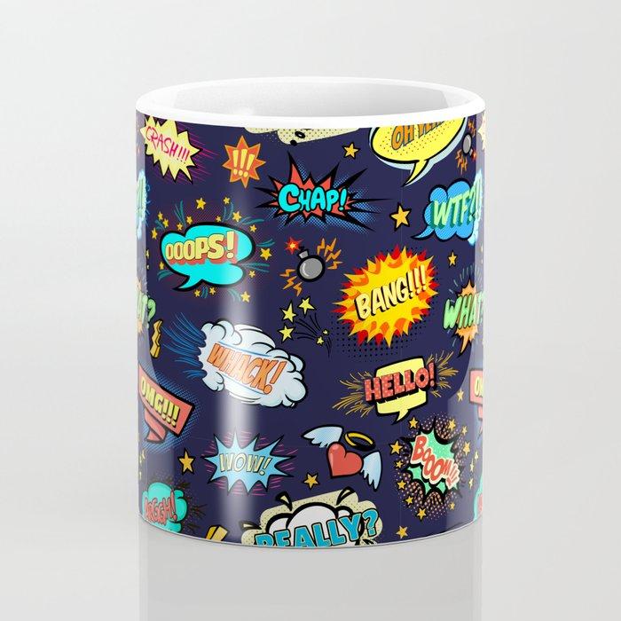 Retro Vintage Comic Book Speech Bubbles Design Coffee Mug