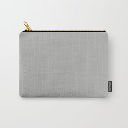 Solid Gray Cloud Color Carry-All Pouch