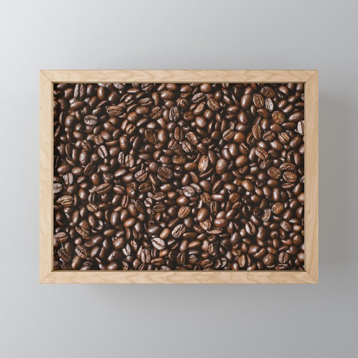 Coffee bean Background Framed Mini Art Print