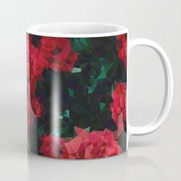 Geometric Red Roses Coffee Mug