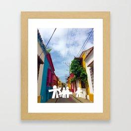 C for Cartagena Fun Cut Out Cartagena Street Print Framed Art Print