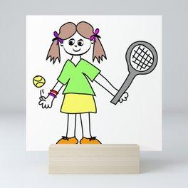 Tennis Girl Mini Art Print