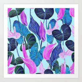 Lush Lily - cool brights Art Print