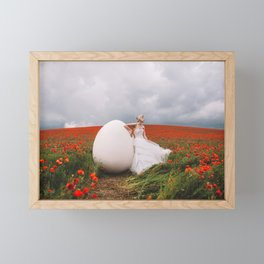 Fly away with me Framed Mini Art Print
