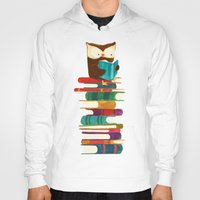 rainbow Hoodies featuring Owl Reading Rainbow by Picomodi