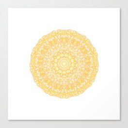 Mandala 13 / 1 yellow Citrine Canvas Print