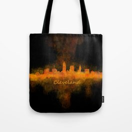 Cleveland City Skyline Hq V4 Tote Bag