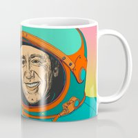 kevin russ Mugs featuring Kevin Spacey by Yve Dim