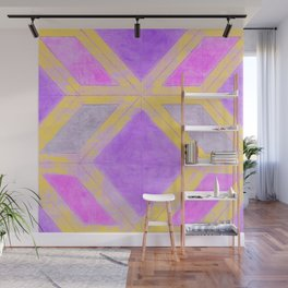 Harlequin Pattern - Colorful Boho CHic Wall Mural