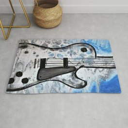 Guitar Art. Abstract Guitar. Rock and Roll. Gibson Guitar. Rug