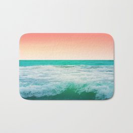 Aqua and Coral, 3 Bath Mat