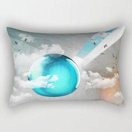 Teal Orbs Rectangular Pillow