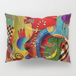Red green transcendental abstraction Pillow Sham