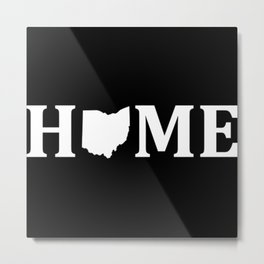 Ohio Is Home USA State Pride Metal Print