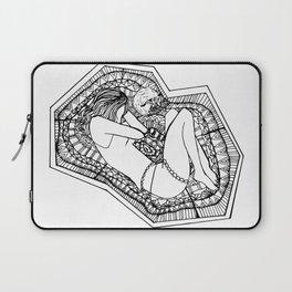 Inktober Tranquil Zentangle Girl and Fox Laptop Sleeve