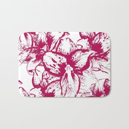 Pattern with flowers of amaryllis Bath Mat