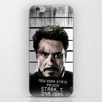 tony stark iPhone & iPod Skins featuring Tony Stark jailed by MkY111