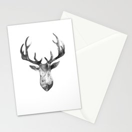Deer black and white Stationery Cards