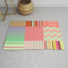 Stripes and chevron mixed color fantasy Rug