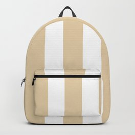 Durian White pink - solid color - white vertical lines pattern Backpack