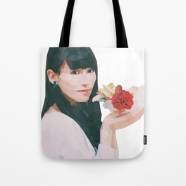 Pretty with Flowers Tote Bag