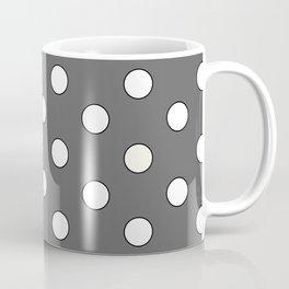 Grey Pastel Polka Dots Coffee Mug