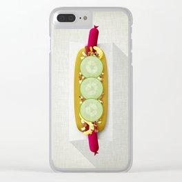 Red Hotdog Clear iPhone Case