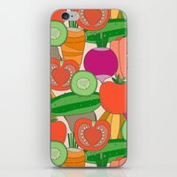 vegetables iPhone & iPod Skins featuring Vegetables by Valendji