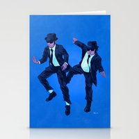 blues brothers Stationery Cards featuring Blues Brothers by Dave Collinson