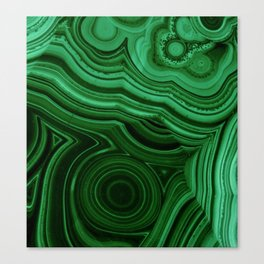 GREEN MALACHITE STONE PATTERN Canvas Print