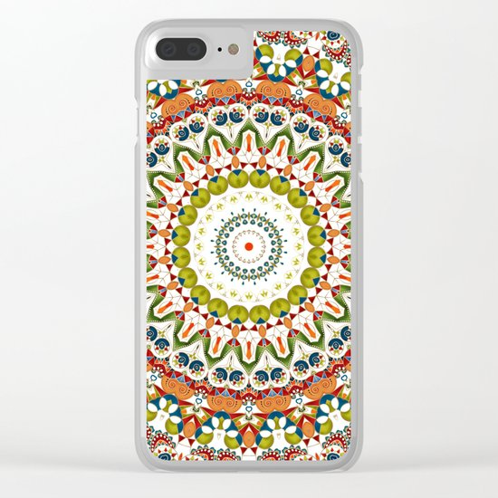 Abstract Ethnic ornament. Rustic . Clear iPhone Case