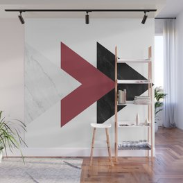 Forward Marble Jester red Arrows Collage Wall Mural