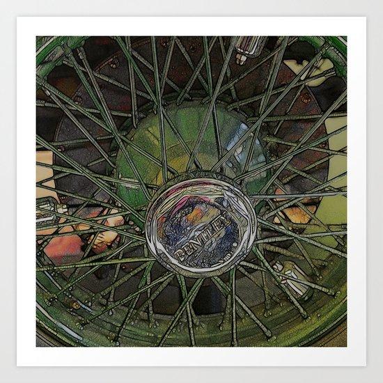 Posh Wheel Art Print