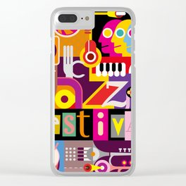 Jazz Festival Clear iPhone Case