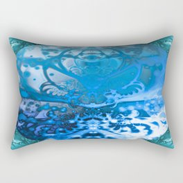 Meditating Entity (blue) Rectangular Pillow