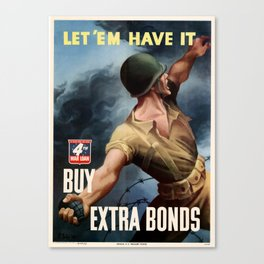 Let'Em Have It Canvas Print