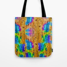 Technicolored Dream Plank Tote Bag