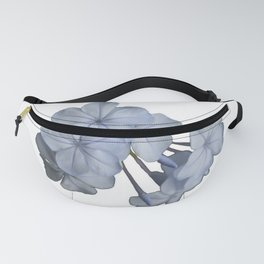 Pale Blue Plumbago Isolated on White Background  Fanny Pack