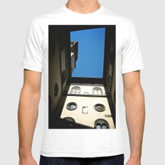 Courtyard Color  MEDIUM White Mens Fitted Tee