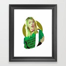 Kim Gordon Framed Art Print