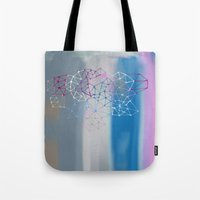 transparent Tote Bags featuring transparent cloud by Bunny Noir