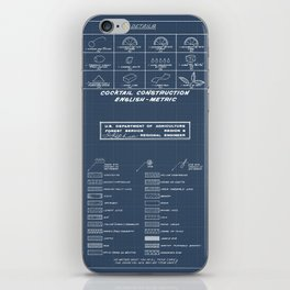 COCKTAIL CHART iPhone Skin