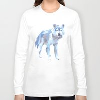 low poly Long Sleeve T-shirts featuring Low Poly Wolf by idrux