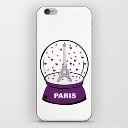 Paris Boule à cœurs iPhone Skin